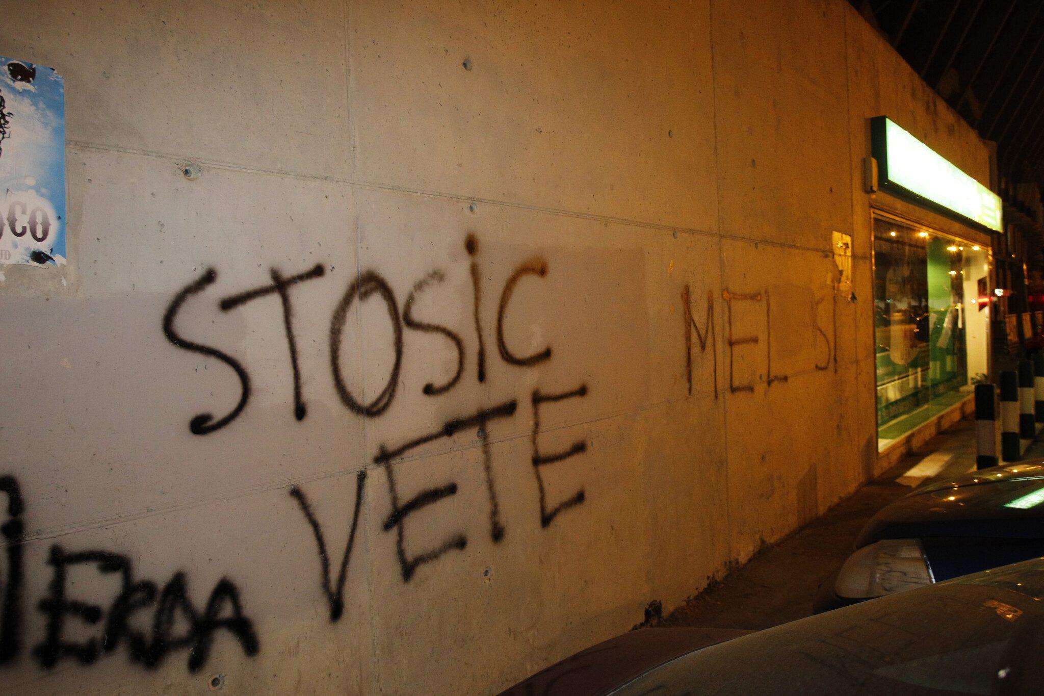 Como las pintadas demandaban, Stosic fue cesado de su cargo/ Ramón Navarro
