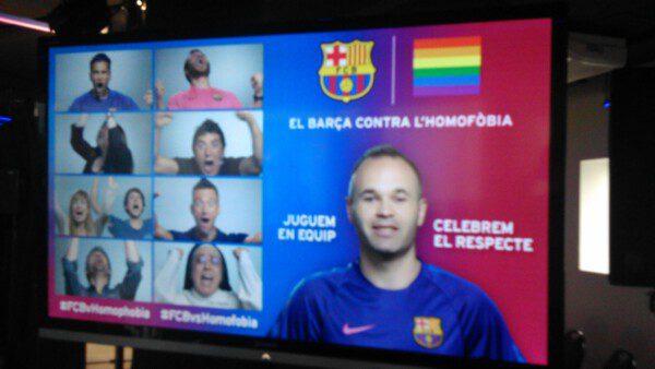 El Barcelona es el primer club de la Liga BBVA que lanza una campaña contra la homofobia/ Antonio García