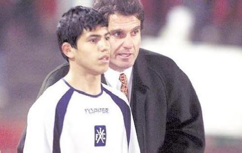 Sergio Agüero debutó en Independiente con apenas quince años/ EFE