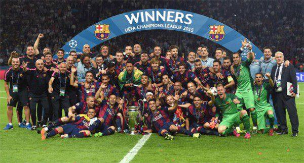 El Barcelona logró su quinta Copa de Europa en 2015/ EFE